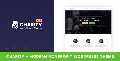 ThemeForest - Charity v1.1 - Nonprofit WordPress Theme - 19176366
