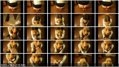 DirtyGirlMary - Game schoolgirl – shit Blowjob [Blowjob Scat / 1.34 GB] FullHD 1080p (Scatology, Scat Fuck)