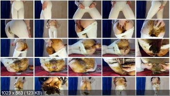 Panty Scat (Anna Coprofield) White Pants [FullHD 1080p] Panty, Pantyhose